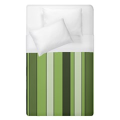 Greenery Stripes Pattern 8000 Vertical Stripe Shades Of Spring Green Color Duvet Cover (Single Size)
