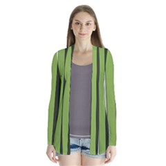Greenery Stripes Pattern 8000 Vertical Stripe Shades Of Spring Green Color Cardigans