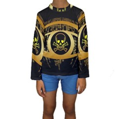 Virus Computer Encryption Trojan Kids  Long Sleeve Swimwear