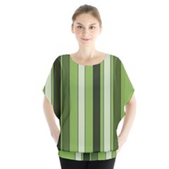 Greenery Stripes Pattern 8000 Vertical Stripe Shades Of Spring Green Color Blouse