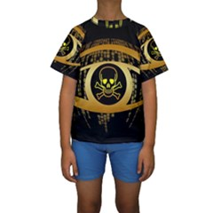 Virus Computer Encryption Trojan Kids  Short Sleeve Swimwear