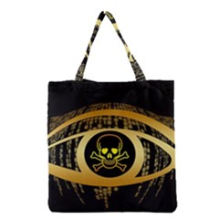 Virus Computer Encryption Trojan Grocery Tote Bag