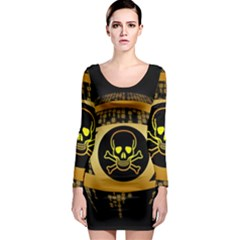 Virus Computer Encryption Trojan Long Sleeve Bodycon Dress