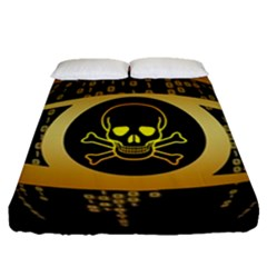 Virus Computer Encryption Trojan Fitted Sheet (Queen Size)