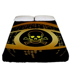 Virus Computer Encryption Trojan Fitted Sheet (California King Size)