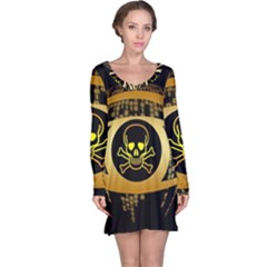 Virus Computer Encryption Trojan Long Sleeve Nightdress
