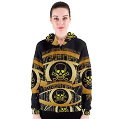 Virus Computer Encryption Trojan Women s Zipper Hoodie