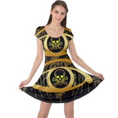 Virus Computer Encryption Trojan Cap Sleeve Dresses