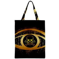 Virus Computer Encryption Trojan Zipper Classic Tote Bag