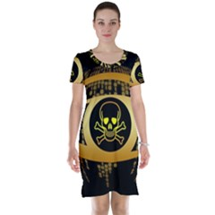 Virus Computer Encryption Trojan Short Sleeve Nightdress