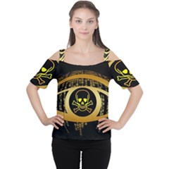 Virus Computer Encryption Trojan Women s Cutout Shoulder Tee