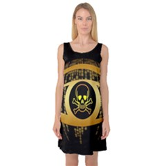 Virus Computer Encryption Trojan Sleeveless Satin Nightdress
