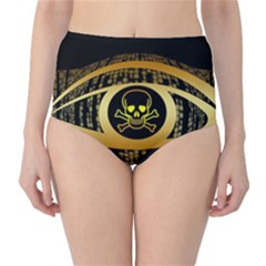 Virus Computer Encryption Trojan High-Waist Bikini Bottoms