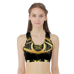Virus Computer Encryption Trojan Sports Bra with Border