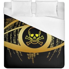 Virus Computer Encryption Trojan Duvet Cover (King Size)