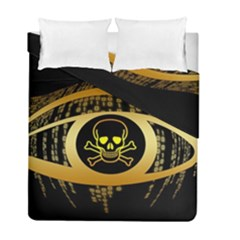 Virus Computer Encryption Trojan Duvet Cover Double Side (Full/ Double Size)