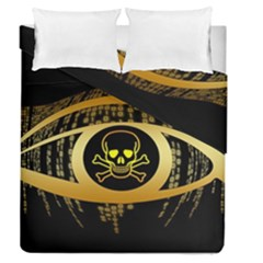 Virus Computer Encryption Trojan Duvet Cover Double Side (Queen Size)