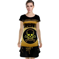 Virus Computer Encryption Trojan Cap Sleeve Nightdress