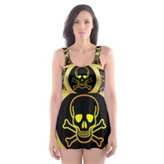 Virus Computer Encryption Trojan Skater Dress Swimsuit