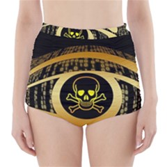 Virus Computer Encryption Trojan High-Waisted Bikini Bottoms