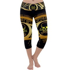Virus Computer Encryption Trojan Capri Yoga Leggings