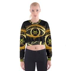 Virus Computer Encryption Trojan Women s Cropped Sweatshirt