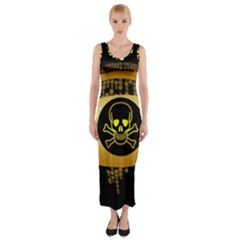Virus Computer Encryption Trojan Fitted Maxi Dress