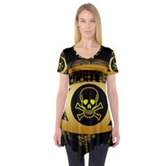 Virus Computer Encryption Trojan Short Sleeve Tunic