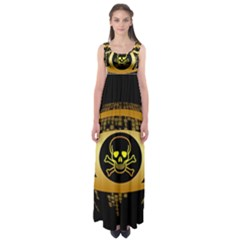 Virus Computer Encryption Trojan Empire Waist Maxi Dress