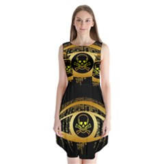 Virus Computer Encryption Trojan Sleeveless Chiffon Dress