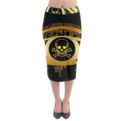 Virus Computer Encryption Trojan Midi Pencil Skirt