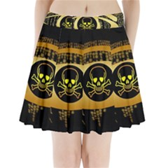 Virus Computer Encryption Trojan Pleated Mini Skirt