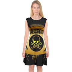 Virus Computer Encryption Trojan Capsleeve Midi Dress