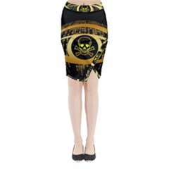 Virus Computer Encryption Trojan Midi Wrap Pencil Skirt