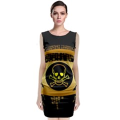 Virus Computer Encryption Trojan Sleeveless Velvet Midi Dress