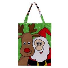 Rudolph and Santa selfie Classic Tote Bag