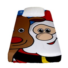 Christmas Selfie Fitted Sheet (single Size)
