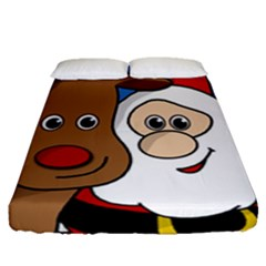 Christmas Selfie Fitted Sheet (queen Size)