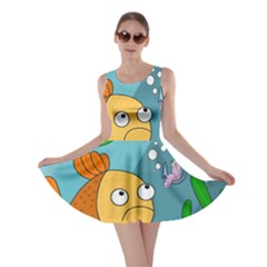 Fish and worm Skater Dress