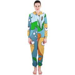 Fish and worm Hooded Jumpsuit (Ladies)