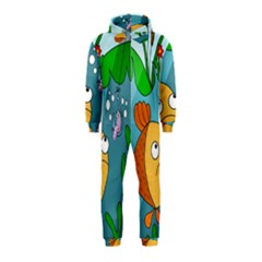 Fish and worm Hooded Jumpsuit (Kids)