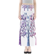 Magical pastel trees Maxi Skirts