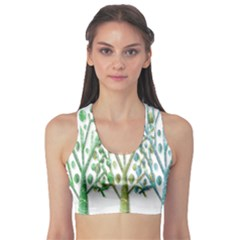 Magical green trees Sports Bra
