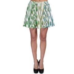 Magical green trees Skater Skirt