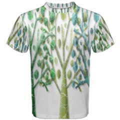 Magical green trees Men s Cotton Tee