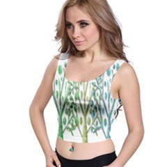 Magical green trees Crop Top
