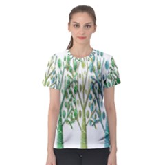 Magical green trees Women s Sport Mesh Tee