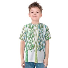 Magical green trees Kids  Cotton Tee