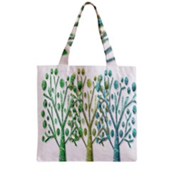 Magical green trees Grocery Tote Bag