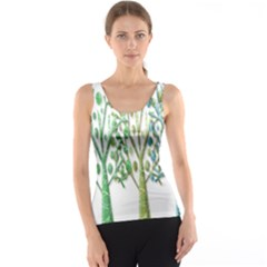 Magical green trees Tank Top